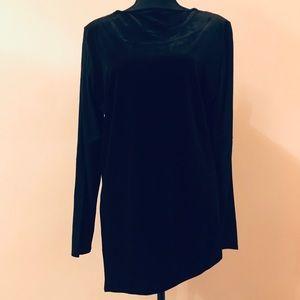 Foxcroft Velvet tunic top Size L